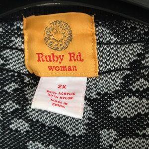 Ruby Rd. Sweaters - Plus size black & white fun sweater